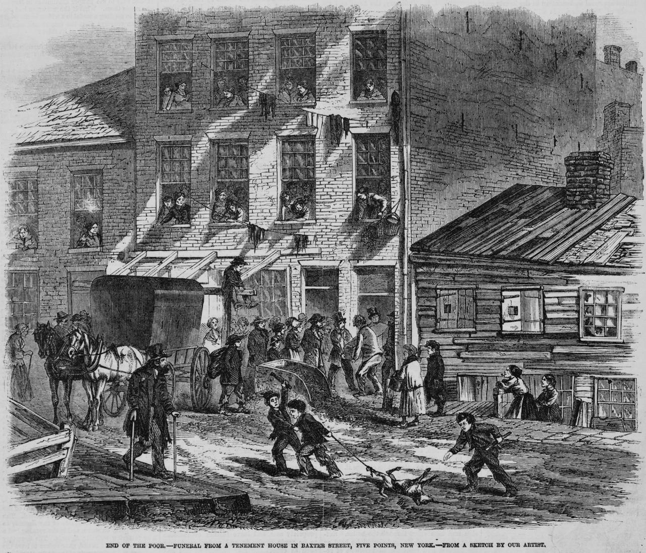 Tenement House 1865 (via http://www.loc.gov/pictures/resource/cph.3c21734/)