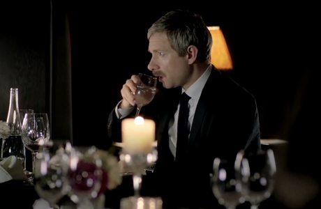 Sherlock's return: Martin Freeman's mustache in the teaser. (Photo: YouTube)