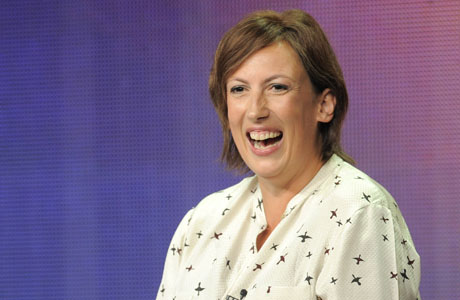 Miranda Hart is all smiles at the TCA event. (AP)