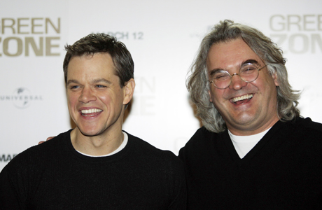 Paul Greengrass with Bourne star Matt Damon. (AP)