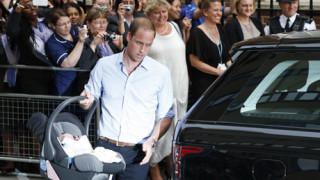 Prince George Alekander Louis of Cambridge, Prince William