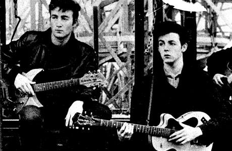 John Lennon and Paul McCartney in Hamburg 1961 (AP Images)