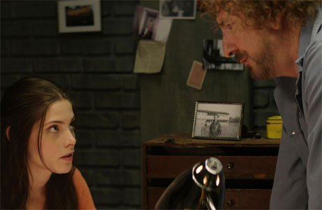 Ashley Greene and Alan Rickman in 'CBGB'