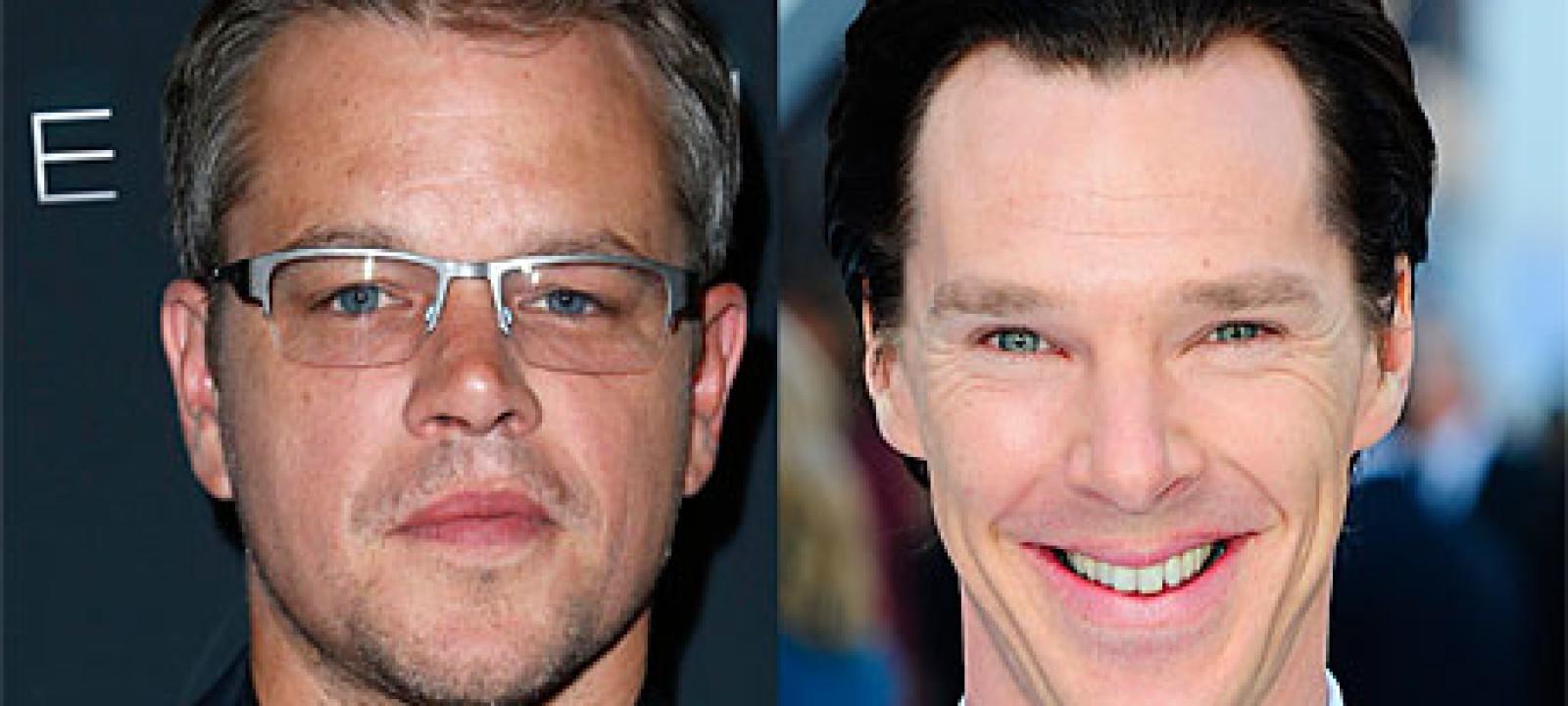 Matt Damon and Benedict Cumberbatch