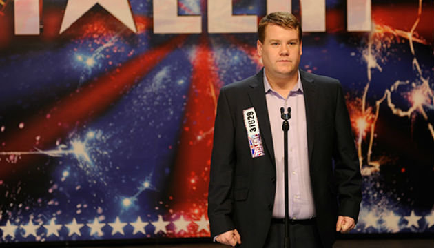 James Corden on the 'Britain's Got Talent' stage, in 'One Chance'