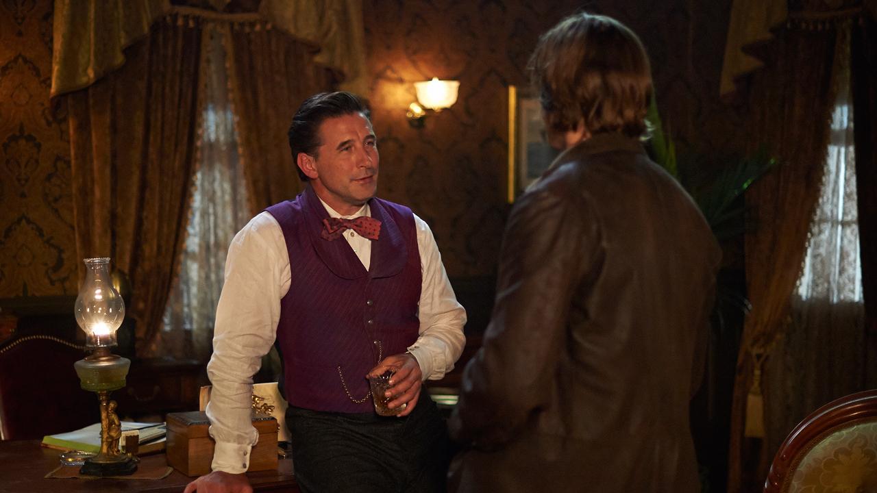 "The charming new Tammany Hall fixer, William ""Wild Bill"" Eustace (Billy Baldwin)."