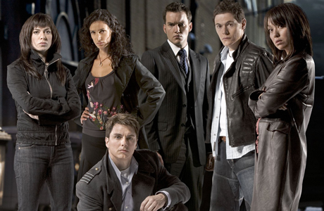 The original cast of Torchwood. (BBC1)