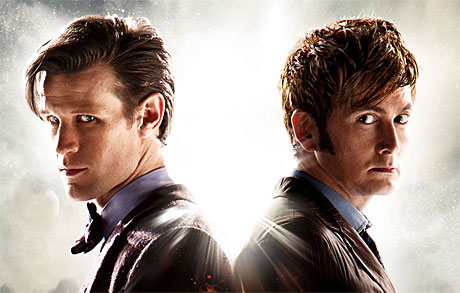 Eleven and Ten, back to back in 'The Day of the Doctor'