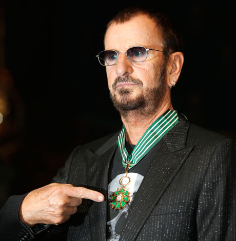 Ringo Star and his medal