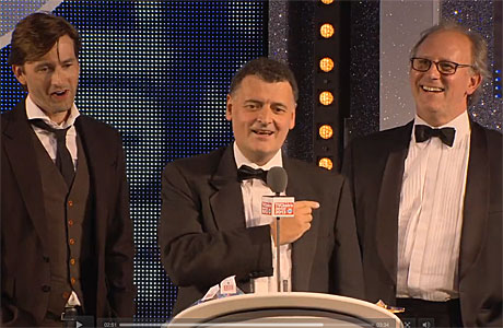 David Tennant, Steven Moffat and Peter Davison at the TV Choice Awards 2013