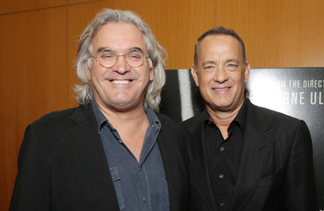 Director Paul Greengrass and star Tom Hanks at the premiere for 'Captain Phillips' (Photo: Eric Charbonneau/Invision for Sony Pictures/AP Images)