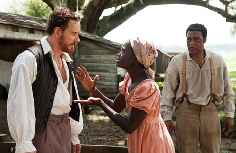 From left: Michael Fassbender, Lupita Nyong'o, and Chiwetel Ejiofor in '12 Years a Slave' (Photo: Fox Searchlight Pictures)