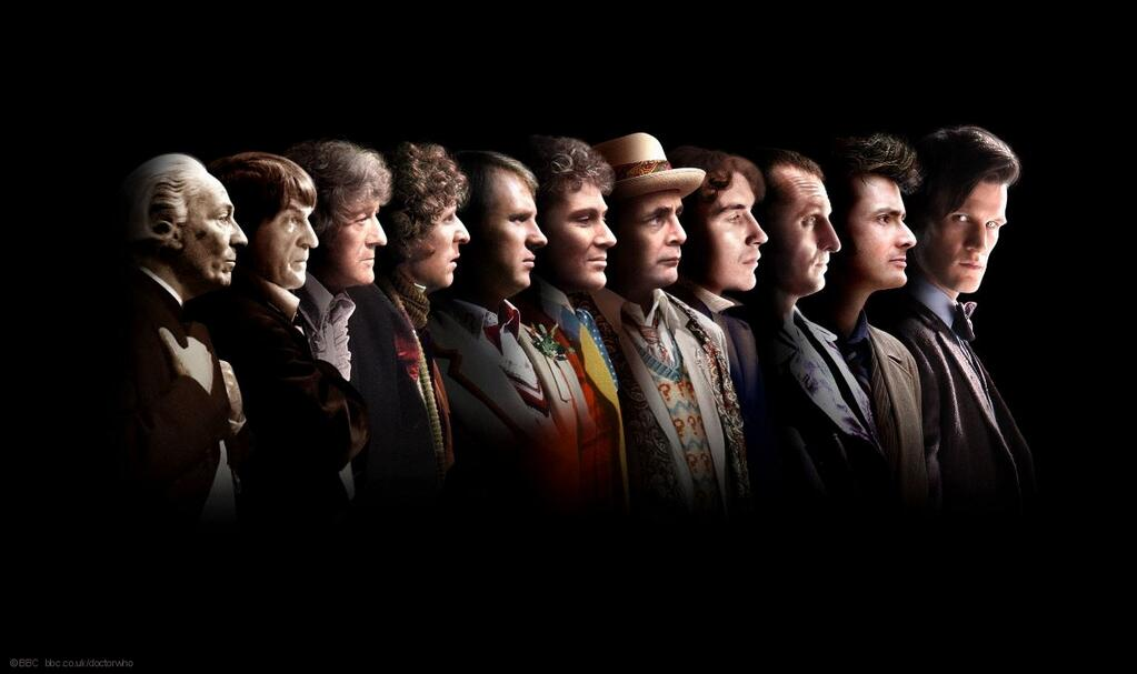 The eleven Doctors. (Photo: BBC)