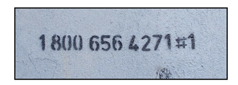 Banksy, Phone Number