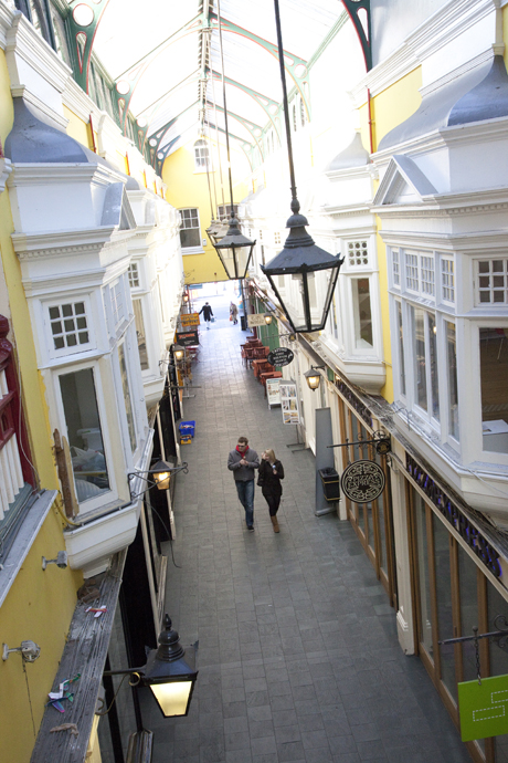 Castle Arcade shopping center. (AP)