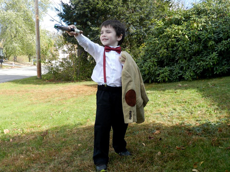 "Tara Meader's 4-year-old son picked out his costume in August saying, ""I am the Doctor, the one with the bow tie."""
