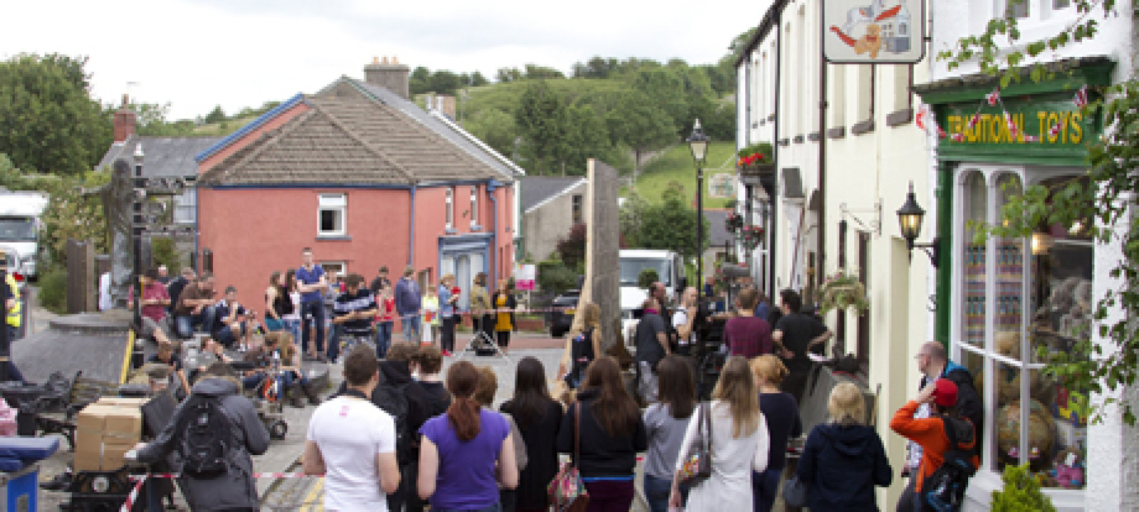 'Doctor Who' TV programme filming, Llantrisant, Wales, Britain –