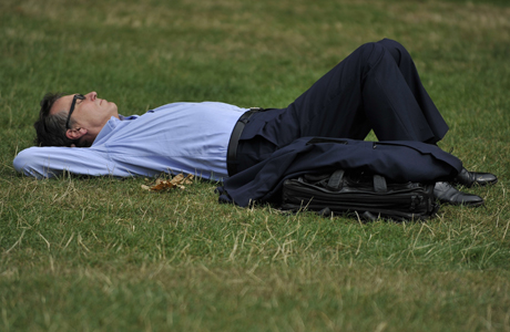 We weren't joking about taking naps, as seen in Green Park. (AP)