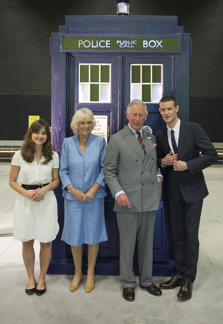 The Prince of Wales and Duchess of Cornwall make a visit to BBC. (AP)