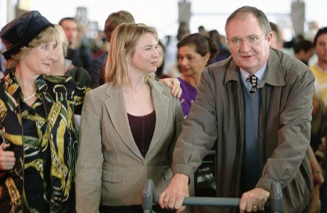 Jim Broadbent (R) and Renee Zellweger in 'Bridget Jones: the Edge of Reason'