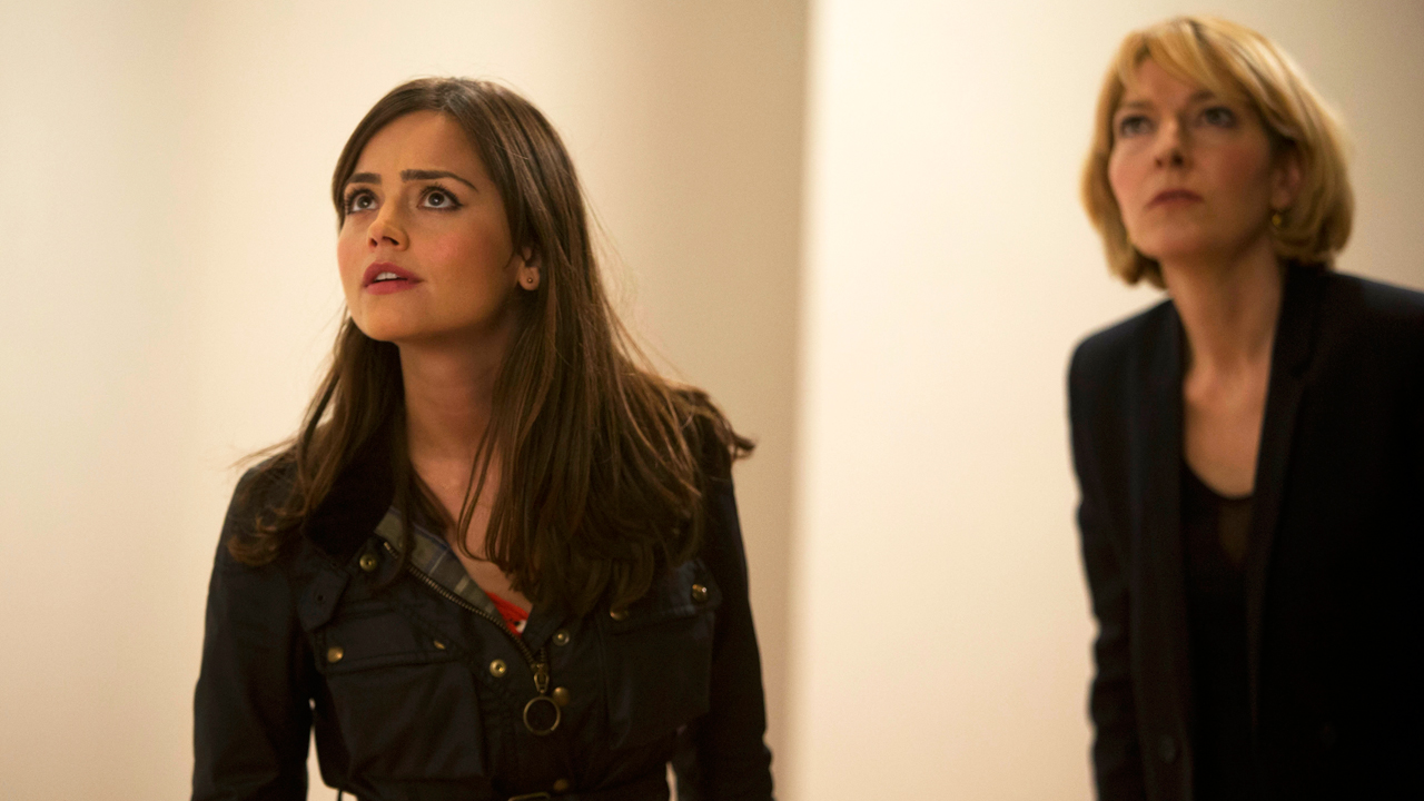 Jenna Coleman and Jemma Redgrave in 'Doctor Who' (Photo: BBC)