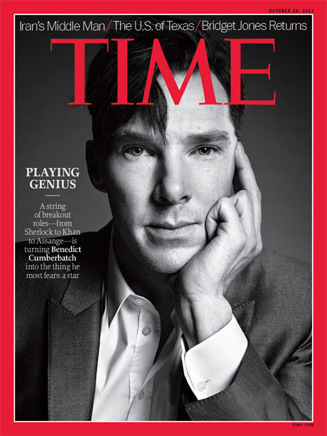 Benedict Cumberbatch on the cover of Time magazine