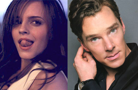 Too sexy: Emma Watson and Benedict Cumberbatch