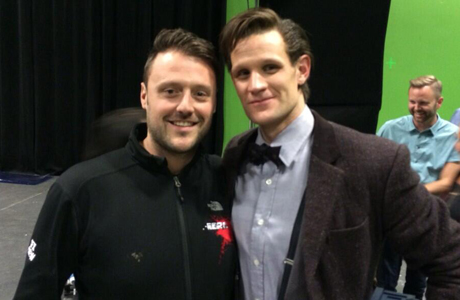 'Doctor Who' SFX supervisor Danny Hargreaves and star Matt Smith. (Photo via Hargreaves' Twitter)