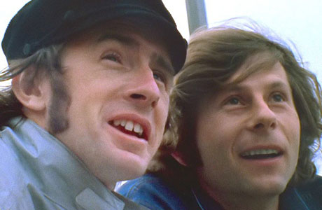Sir Jackie Stewart and Roman Polanski in 'Weekend of a Champion'