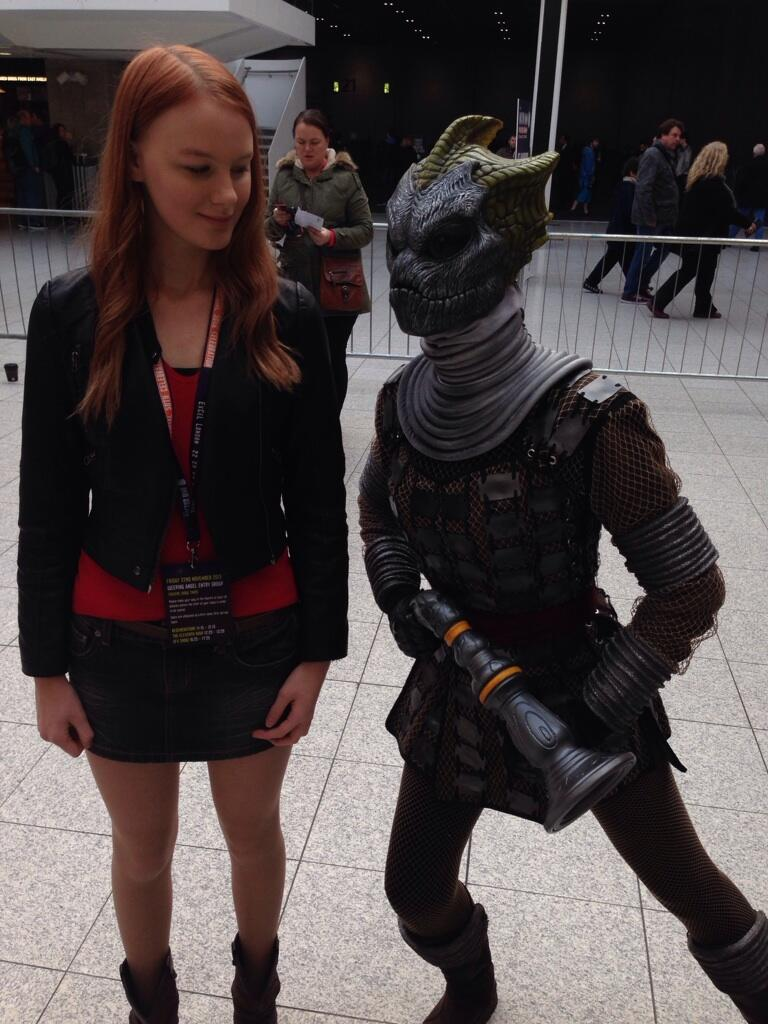 Amy Pond terrorized by a Silurian! (Photo: KW)