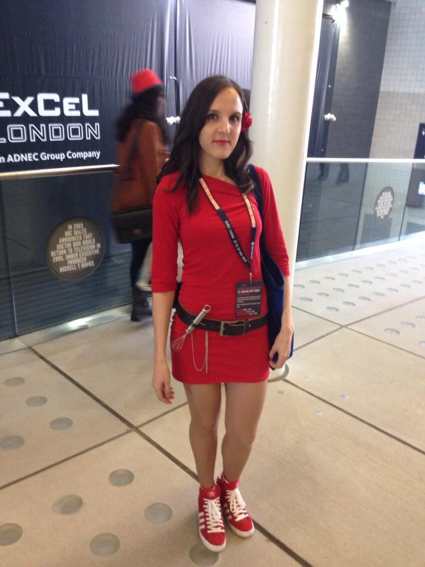 Run, you clever boy, and remember. Clara Oswin Oswald cosplay. (Photo: KW)