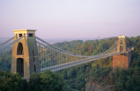 Clifton Suspension Bridge, built by Brunel, Bristol, Avon, England. (AP/Robert Cousins/Robert Harding)