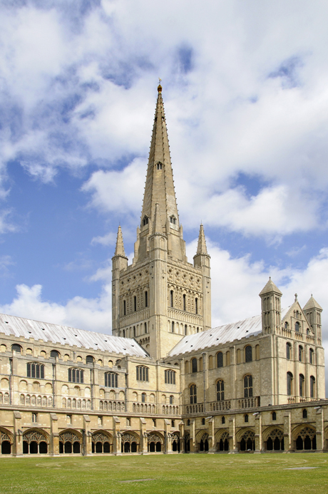 Cathedral spire and south transept, Norwich Cathedral, Norwich, Norfolk, England (Photo by: Minden Pictures/AP Images)