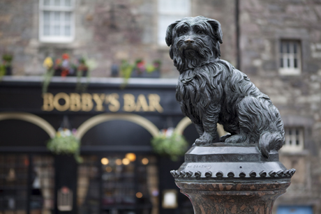 Greyfriars Bobby, Edinburgh, Scotland(Amanda Hall/Robert Harding /AP Images)