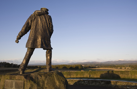 Colonel Sir David Stirling, founder of the Special Air Service (SAS), has been memorialized near Doune, Stirlingshire, Scotland. (Jean Brooks/Robert Harding /AP Images)