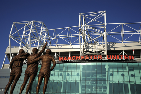 Manchester United Football Club Stadium, located in Old Trafford, Manchester, England, has permanent supporters outside. (Peter Richardson/Robert Harding /AP Images)