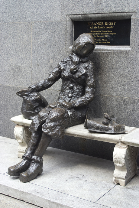 Statue by Tommy Steele of the eponymous woman of the Beatles son (Ethel Davis/Robert Harding /AP Images)