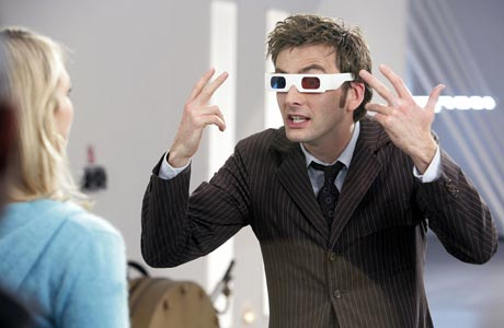 The Tenth Doctor and his 3D Glasses