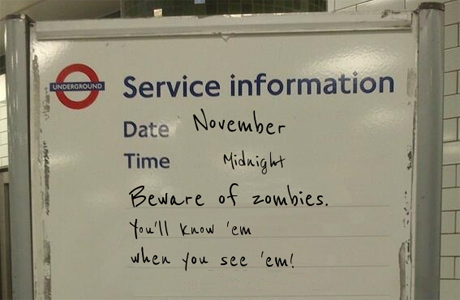 ... a zombie warning.