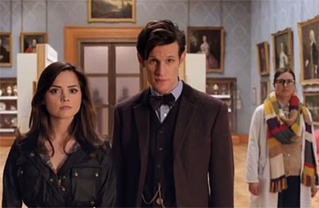 "Clara, the Doctor and friend, in ""The Day of the Doctor"""