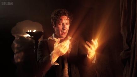 The Eighth Doctor (Paul McGann) regenerates