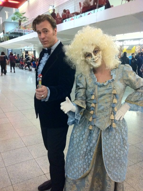 Andy M. and Lorna T. as the Third Doctor and a Clockwork Droid. (Photo: Karen Parks)