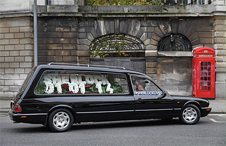 Sherlock's hearse (Justin Sutcliffe/BBC)