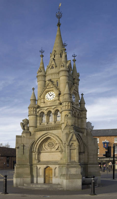 American George W. Childs gifted the clock tower to Stratford upon Avon, in Warwickshire, England, to mark the Jubilee of Queen Victoria. (David Hughes/Robert Harding /AP)