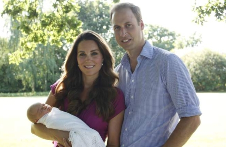We get a first look at Prince George in this family portrait taken by a family member. (Photo: Michael Middleton)