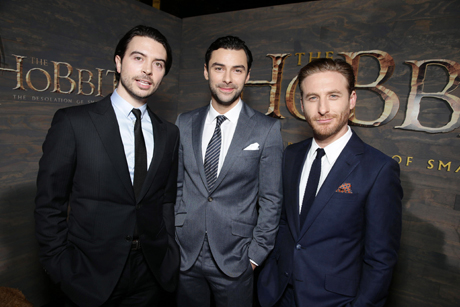 Ryan Gage, Aidan Turner and Dean O'Gorman (Eric Charbonneau/Invision/AP)