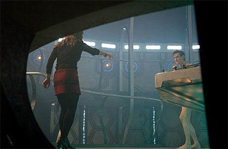Clara and the naked Doctor - The Time of the Doctor