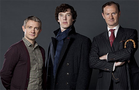 "'Hollywood? What on earth is that?"" Martin Freeman, Benedict Cumberbatch and Mark Gatiss"