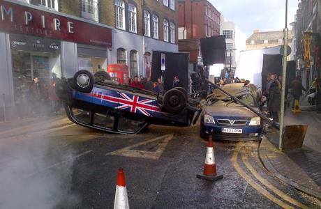 '24' set in Cobb Street, London '24' TV series Filming, London, Britain - 22 Jan 2014  (Rex Features via AP Images)
