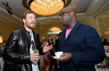 Michael Fassbender and Steve McQueen at the BAFTA Los Angeles Tea Party. (Photo by Kevork Djansezian/BAFTA LA/Getty Images for BAFTA LA)
